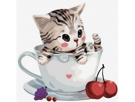 CupCat №3 paint by numbers