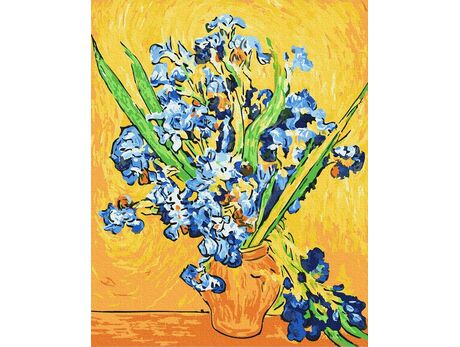 Irises. Van Gogh paint by numbers