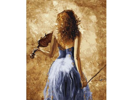 Violinist paint by numbers