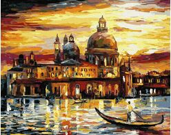 The golden sky of Venice