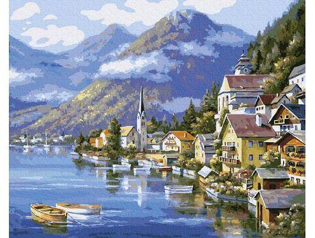 Hallstatt. Austria paint by numbers