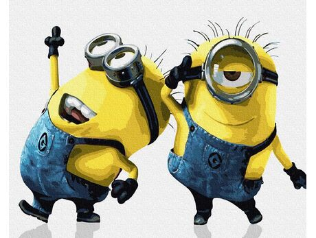 Funny Minions paint by numbers