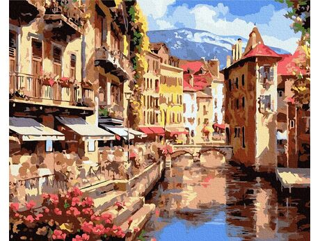 Old streets of Europe paint by numbers