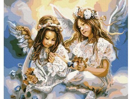 Two Angels paint by numbers