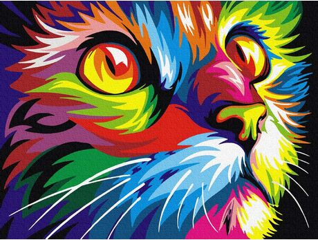 Cat's look paint by numbers