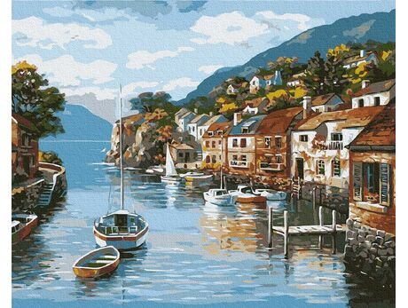 Calm bay paint by numbers