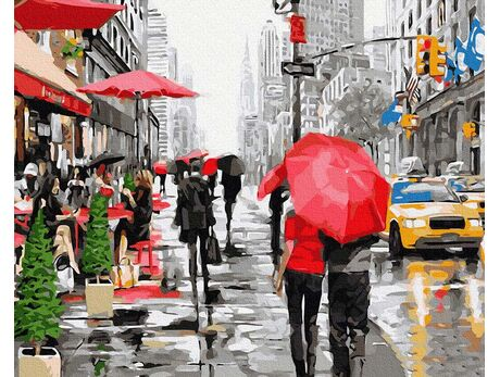 Rain in New York paint by numbers
