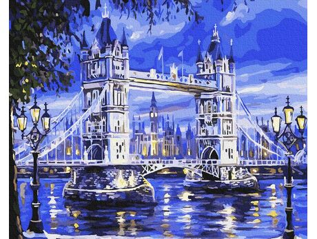 London in the moonlight