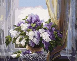 Lilacs on the window