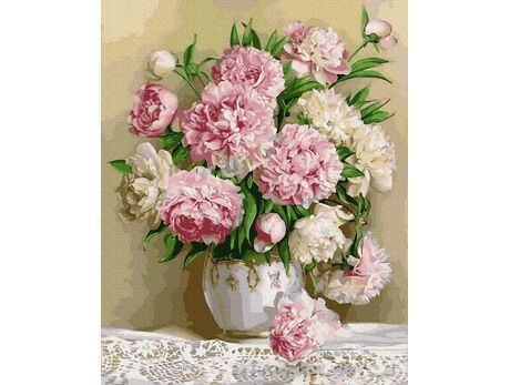 The aroma of peonies paint by numbers