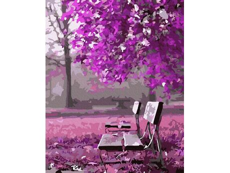Purple garden paint by numbers
