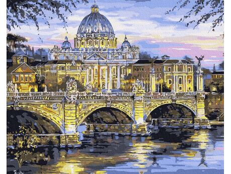 Vatican City, Saint. Angel, Basilica of Saint. Peter paint by numbers