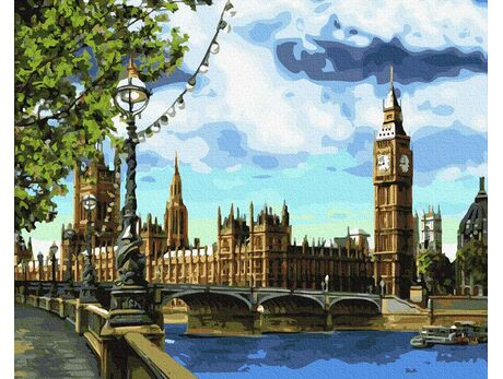 View of Big Ben paint by numbers