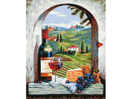 Italian holidays paint by numbers