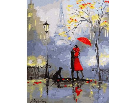 A kiss in Paris paint by numbers