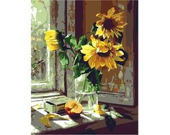 Sunflowers on the window