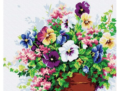 Pansies paint by numbers