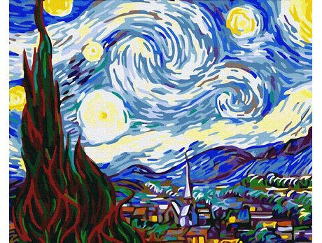Starry night (Van Gogh) paint by numbers