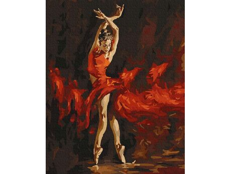 Passionate dance paint by numbers