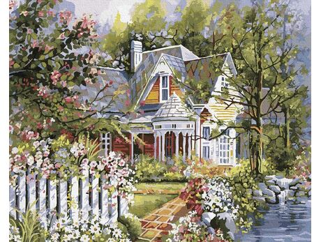Summer house paint by numbers