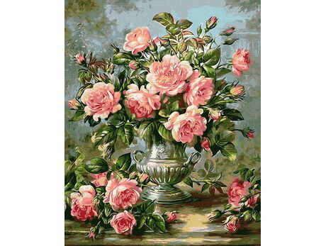 Bouquet of roses paint by numbers