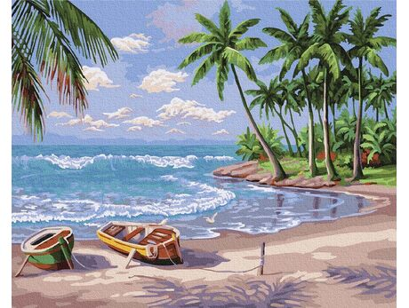 Paradise Island paint by numbers