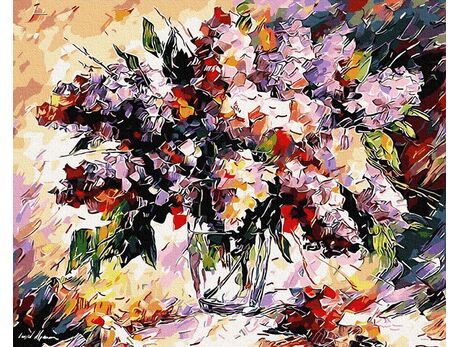 Spring bouquet paint by numbers