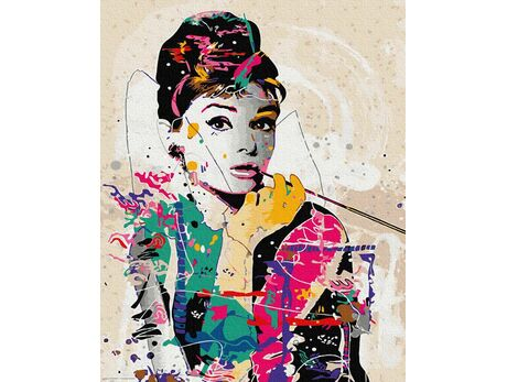 Audrey Hepburn paint by numbers