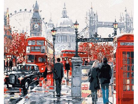 On the streets of London paint by numbers