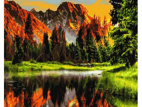 Mountain landscape paint by numbers