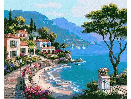 Mediterranean bay paint by numbers