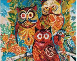 Colorful Owls (40x50CM)