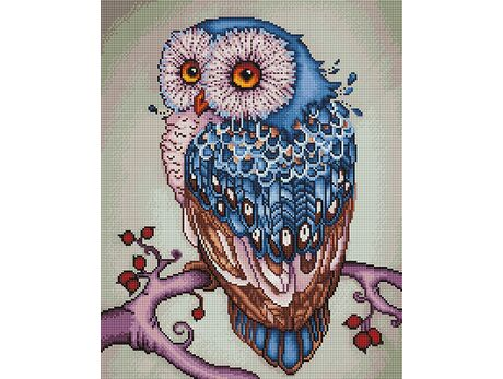 Owl on the branch (40x50CM) diamond painting