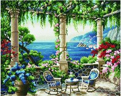Terrace with the sea view(40x50CM)