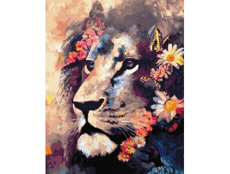 Good lion paint by numbers