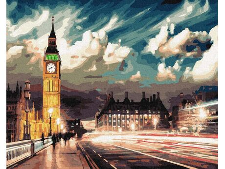 Lights of night london paint by numbers