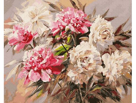 Bouquet of peonies paint by numbers