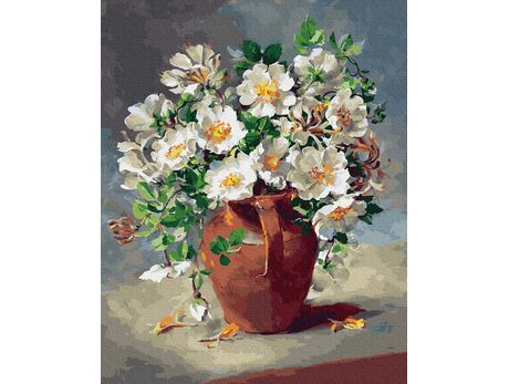 White flowers in a jug