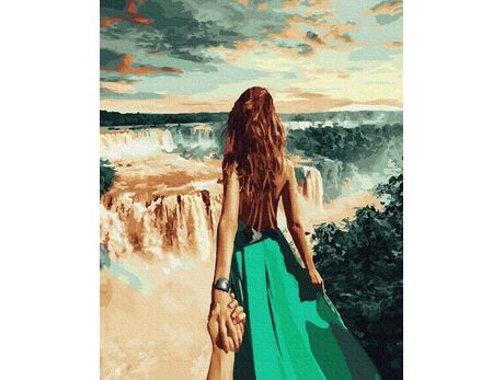 Follow me. Niagara Fall paint by numbers
