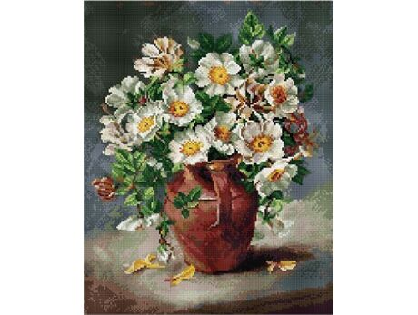 White flowers in a jug (40x50CM)