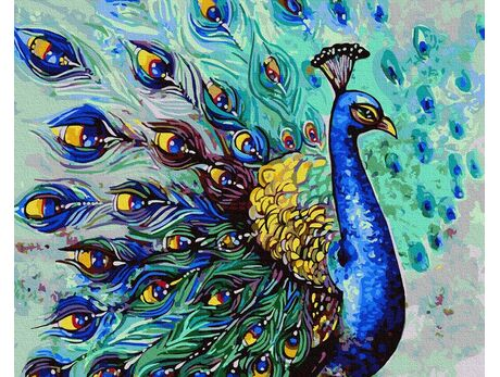 Handsome peacock paint by numbers