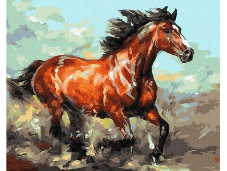 Rampant gallop paint by numbers