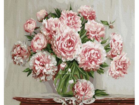 Lush peonies paint by numbers