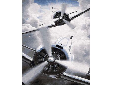 Warplanes paint by numbers
