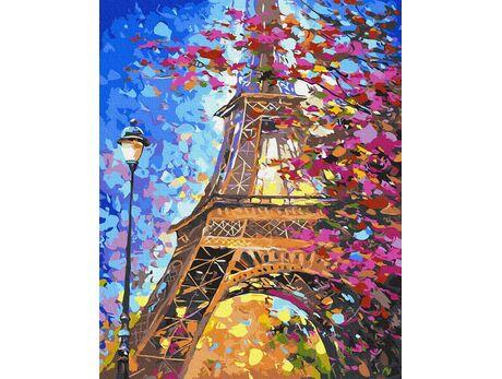 Spring in Paris paint by numbers