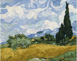 Wheat field with cypresses (Van Gogh)