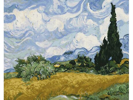 Wheat field with cypresses (Van Gogh) paint by numbers