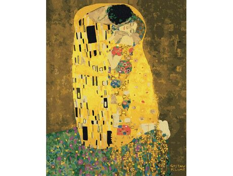 The Kiss (Gustav Klimt) paint by numbers