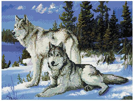 Wolves diamond painting