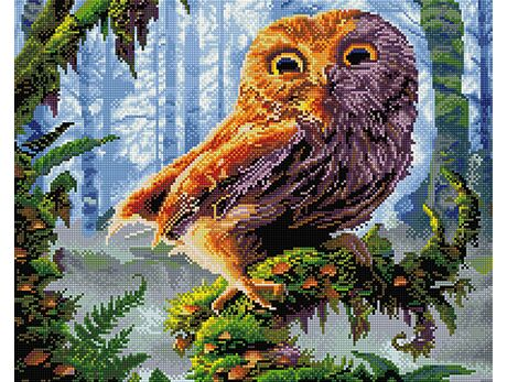 Wize owl diamond painting